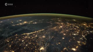 Stunning timelapse shows lightning strikes from space - Video