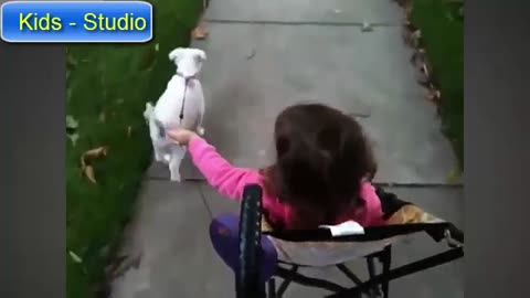 Cute BABY AND DOG !!!