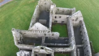 1st Drone View Of Medieval Franciscan Friary West Coast Ireland - Video