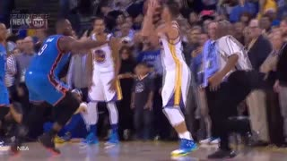 Stephen Curry Crosses Up Kevin Durant, Russell Westbrook & Serge Ibaka - Video