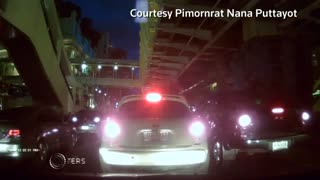 Dashcam footage shows Bangkok shrine blast - Video