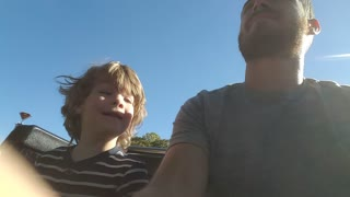 "4 Year Old Goes on His FIRST Roller Coaster and ""Wikes"" It!! - Video"