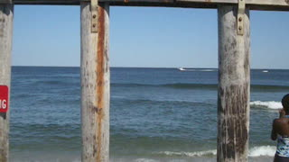 OCEAN GROVE BENEATH PIER VIEW - NJ New Jersey Shore Beach Travel - Video