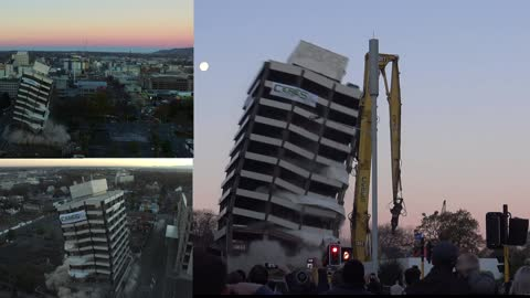 Old Police Building Implosion from three different angles