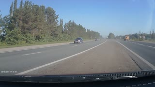 Near Miss On The Highway - Video
