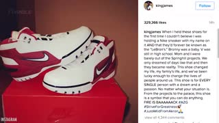 """LeBron James Drops SICK New Nike Shoes: """"Started from the Bottom"""" - Video"""