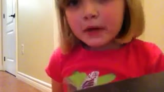 Little Girl Pulls Off Hidden Camera Prank On Dad - Video