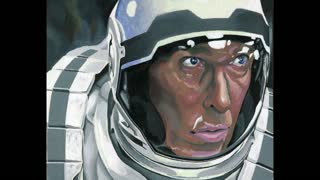 Time lapse: Matthew McConaughey realistic painting - Video