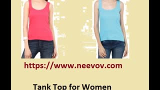 Womens Black Colour Tank Tops - Video