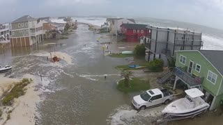 Drone footage captures Hurricane Joaquin devastation - Video