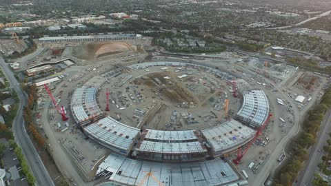 Drone captures magnitude of Apple's 'Mothership' headquarters