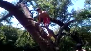 Rope Swing Fail - Video