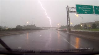 Lightning Strike During Summer Storm - Video
