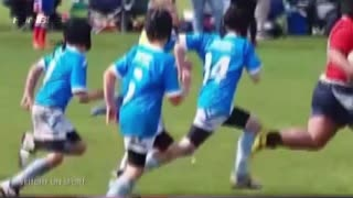 Massive 9-Year-Old Bulldozes Entire Rugby Team - Video