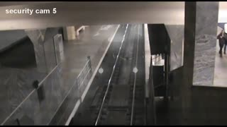 Security Camera Captures Strange Ghost Train  - Video