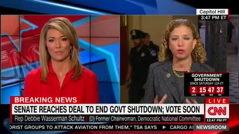 Rep. Wasserman-Schultz Was Asked to List Wins for Dems in Shutdown Deal