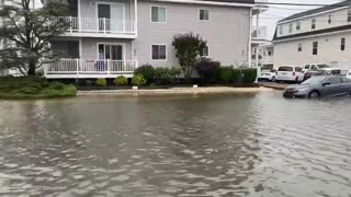 Tropical Storm Fay causes massive flooding in Avalon, New Jersey