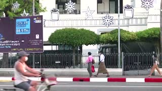 Video shows soldiers outside Yangon's City Hall