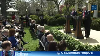 President Trump Doubles Down On Blaming Obama For The Red Line - Video