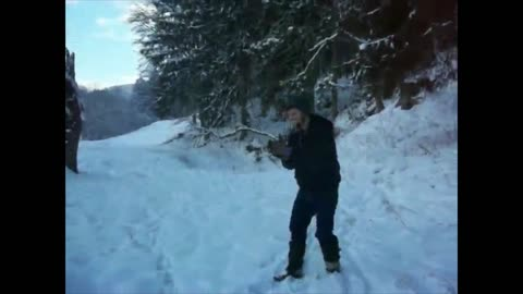 Dude Epically Fails To Jump Over Frozen Creek