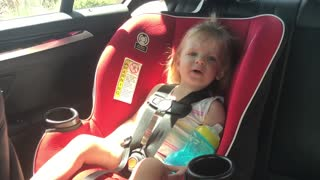 Toddler adorably fails at singing ABC's - Video
