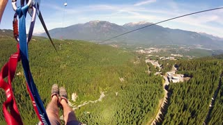 Adrenaline-filled zip line hits speeds over 90mph! - Video