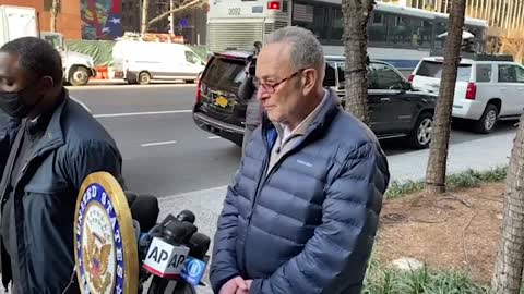 Protester gives Chuck Schumer a piece of her mind and it's beautiful