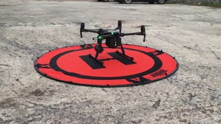 High end drone in flying over