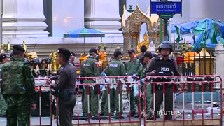 Thai police look for shrine blast suspect