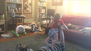 "Baby ""Helps"" Mom with Yoga - Video"