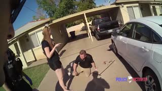 Man Pinned Under Car Gets Saved By Mesa Police Officers (AZ)