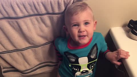 Little boy has a very interesting request at potty time! You won't believe what he asks for!