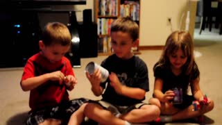 Three Thankful Kids Have The Cutest Reaction - Video