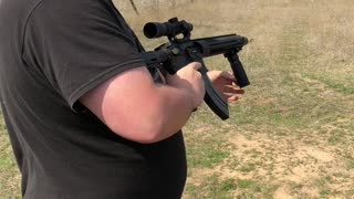 Suppressed 7.62x39 AR Full auto mag dump