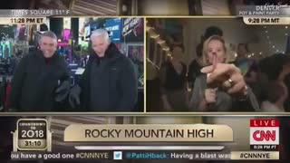 CNN Reporter Smokes Marijuana, Promotes Hip Drug Use Live on Air During New Year's Eve Feed - Video