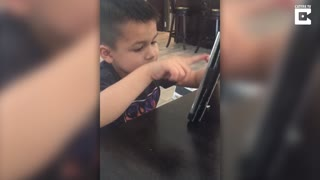 Adorable Moment Toddler Argues With Siri - Video