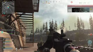 Warzone enemy parachuting down didn't stand a chance