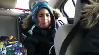 4-Year-Old Cute Boy Has His First Heartbreak - Video