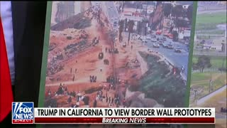 Trump Visits Border Wall Prototypes, Talks Design Preferences - Video