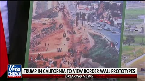 Trump Visits Border Wall Prototypes, Talks Design Preferences
