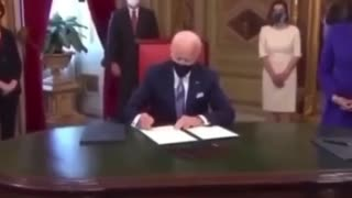 """Joe Biden: """"What Am I Signing?"""" Signs It Anyways.. (Executive Order)"""