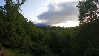 Time Lapse Sunset in the Smoky Mountains