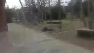 Two attempt blurry front flip fail - Video