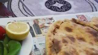 Vegetables with Turkish dough