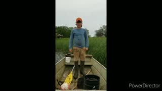 Catching crawfish with a trap