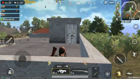 Using Grooze Weapon To Kill 4 People On House Roaf Pubg Mobile
