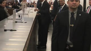 Barack Obama Attends Jury Duty - Video