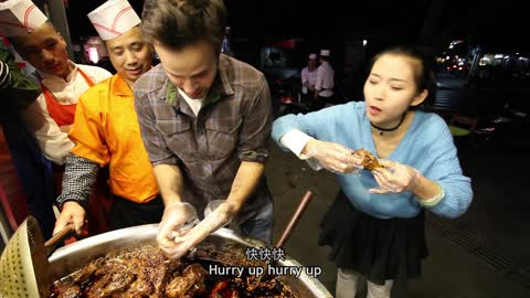Chinese Food With A Local Girl | Sichuan Rabbit Head On The Street in Chengdu   The Food Ranger