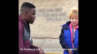 Comedians Give Woman Money At Gas Station