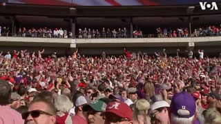 Trump cheered by crowd at Alabama-LSU football game
